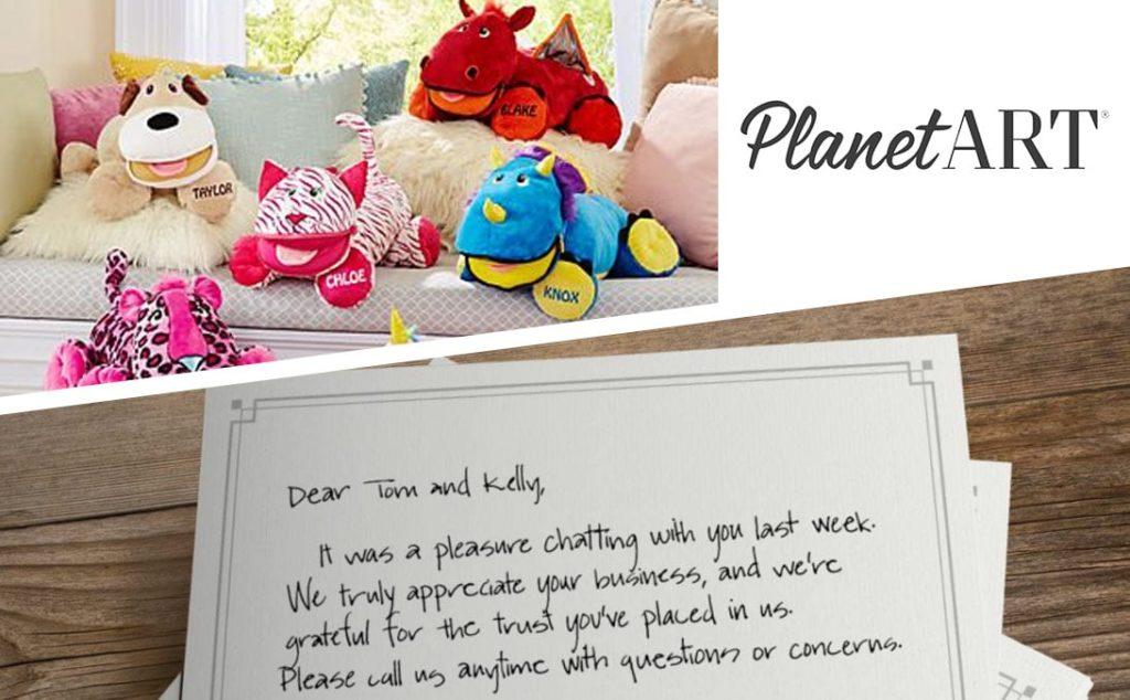 Handwriting Stuffies PlanetArt Claranova